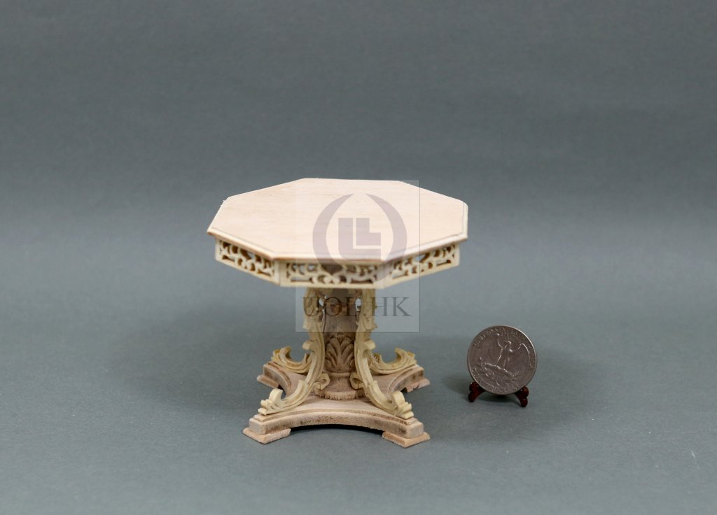Miniature Wooden 1:12 Scale Grand Octagon Table[Unfinished]