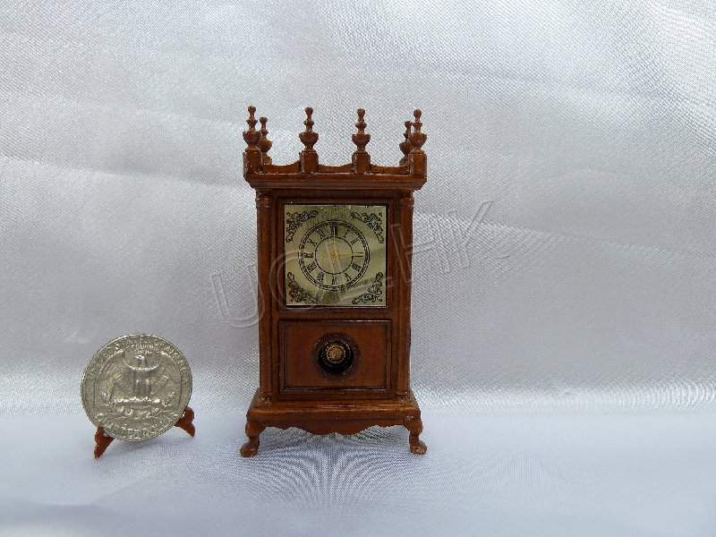 Walnut clock for doll house