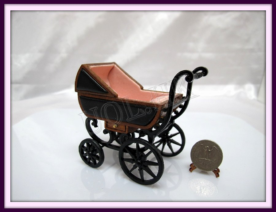 1:12 Scale Baby Carriage For Doll House