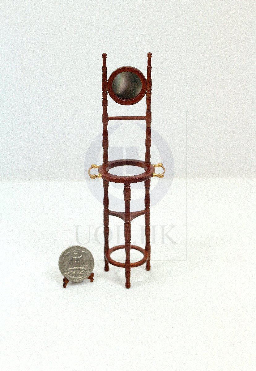 "Miniature 1:12 Scale ""Old Time"" Wash Stand For Doll House [WN]"