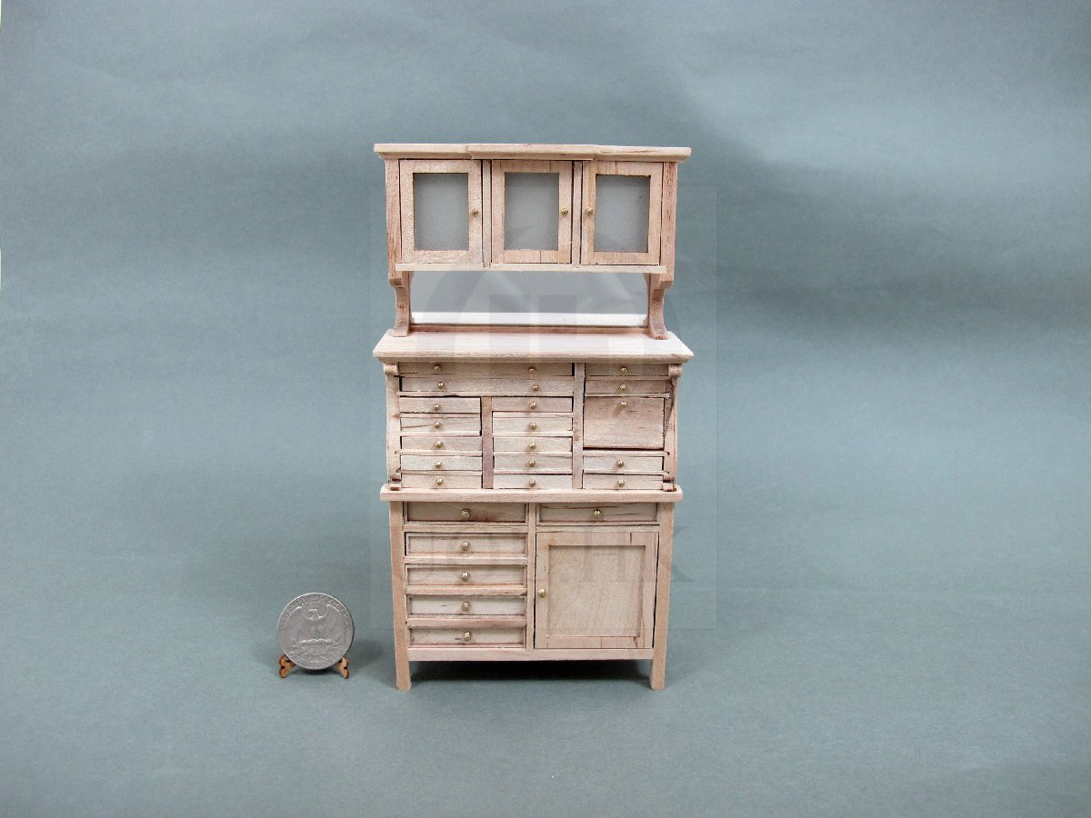 Miniature 1:12 Scale Old Style Medical Cabinet For Doll House-UF