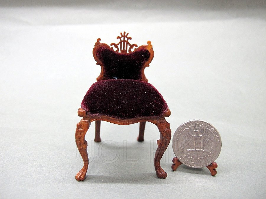 1:12 Scale Fantasy Lyre Chair