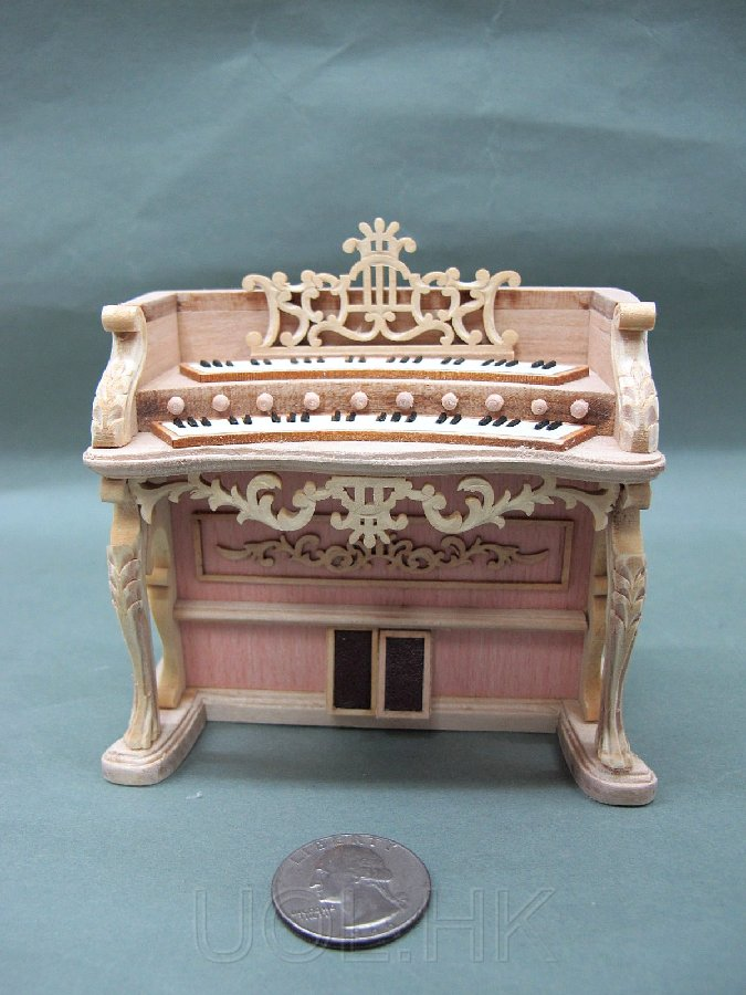 1:12 Scale Miniature Doll House Fantasy Lyre Organ-Unpainted