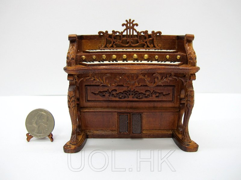 1:12 Scale Miniature Doll House Fantasy Lyre Organ [WN]