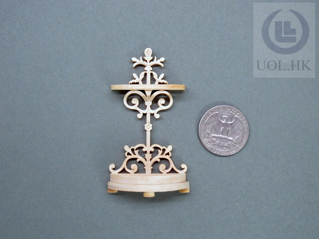 Miniature 1:12 Scale Unpainted Umbrella Stand For Doll House