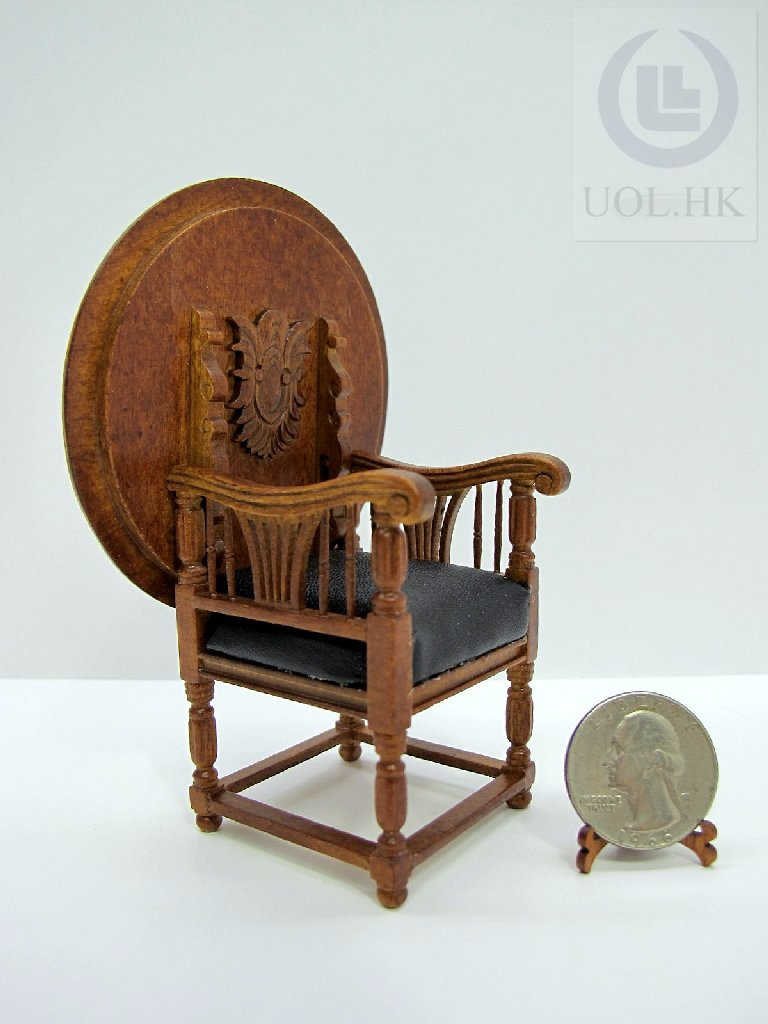 Miniature 1:12th Scale Versatile Chair For Doll House