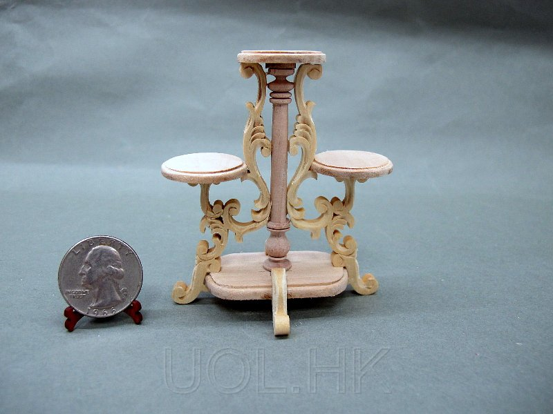 1:12 Scale Miniature Doll House Unpainted Plant Stand