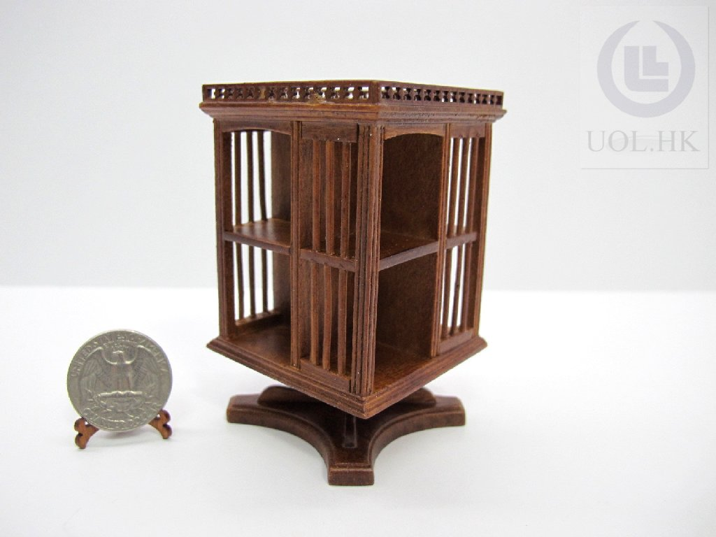 Gallery Bookcase With Stand For Doll House