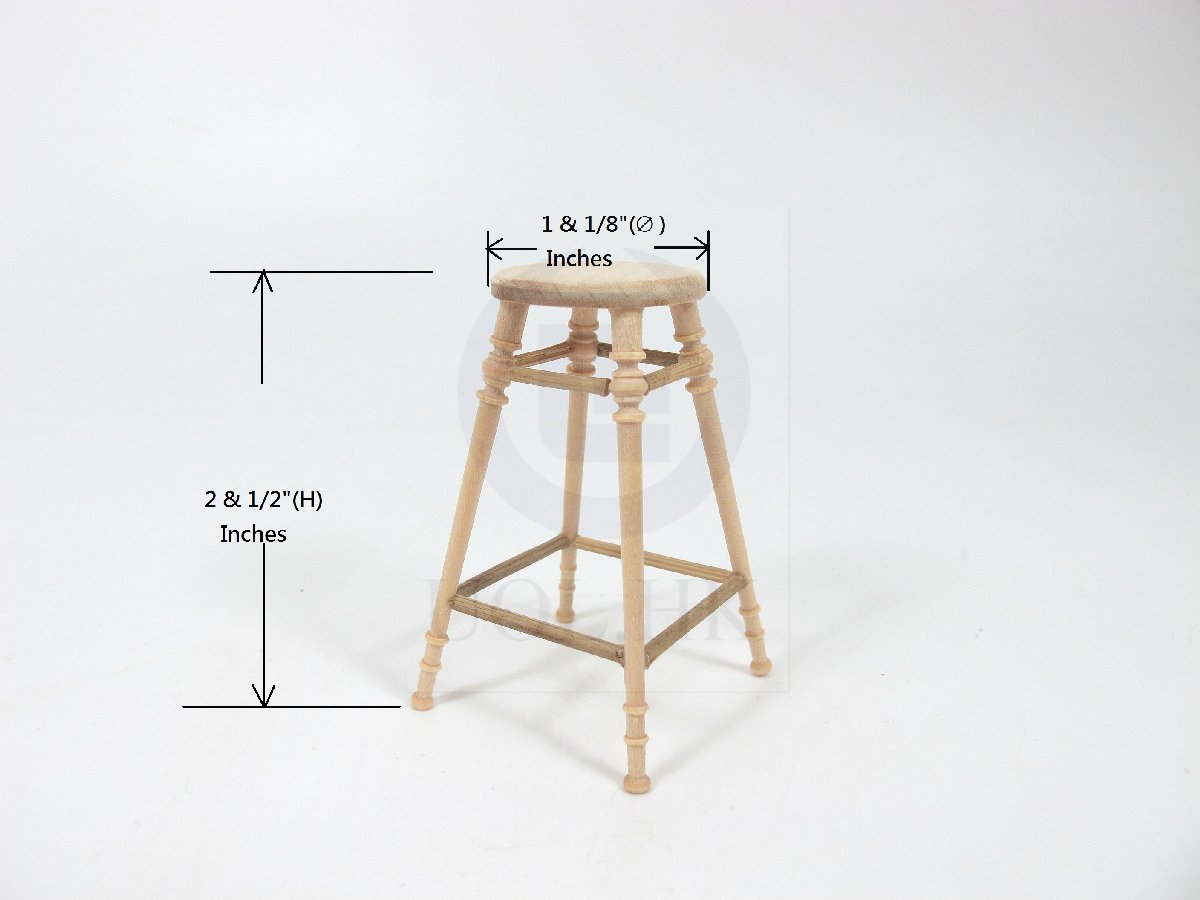 Miniature 1:12 Scale The Helen's Stool for Dollhouse [UF]