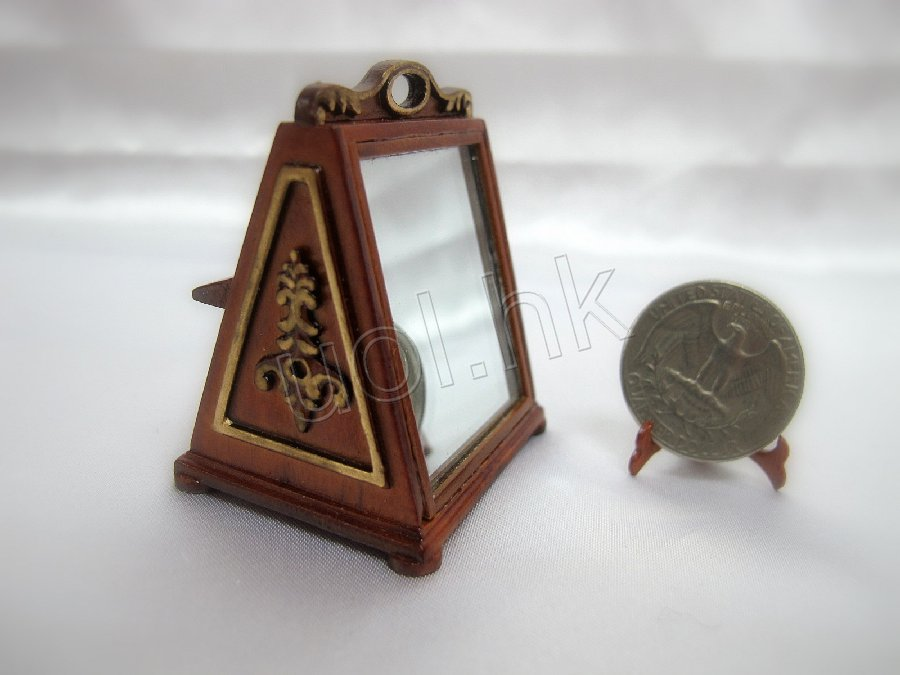 High end doll house Shoes mirror- walnut