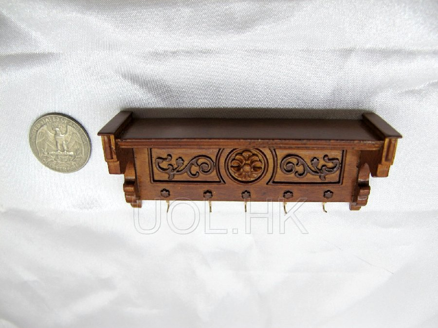 1:12 Scale Doll House Wood Carved Wall Self Wall Rack(WN)