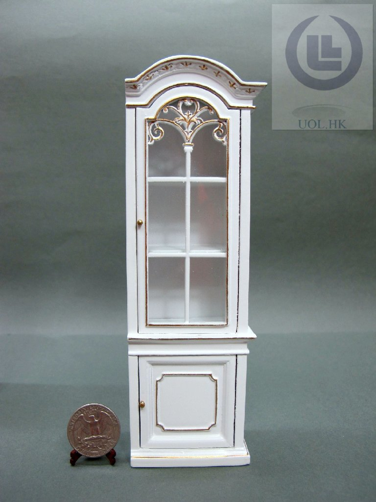 "1"" Scale Miniature Right Open Display Cabinet For Doll House"