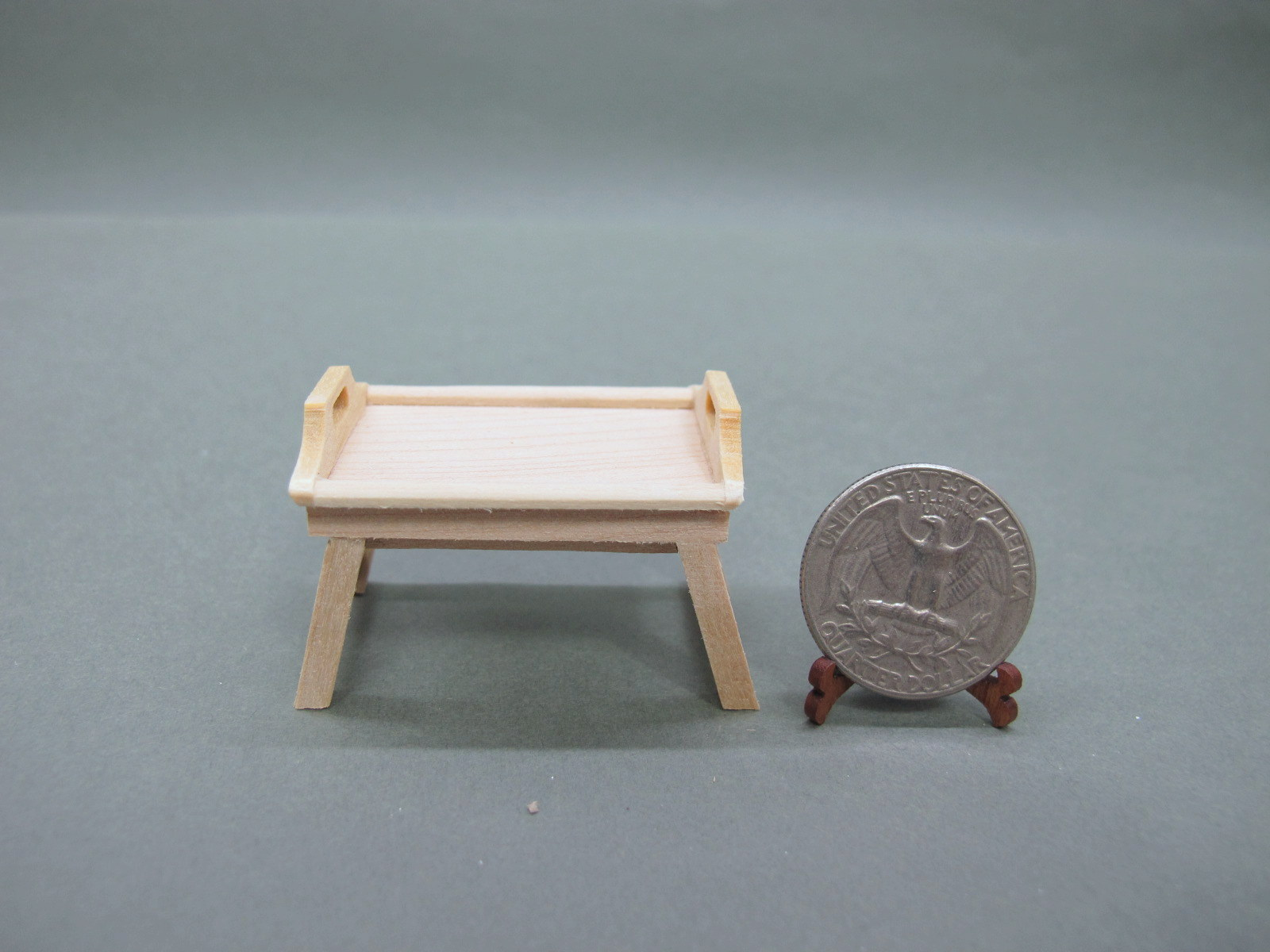 1:12 Scale Doll House Bed Tray-Unpainted