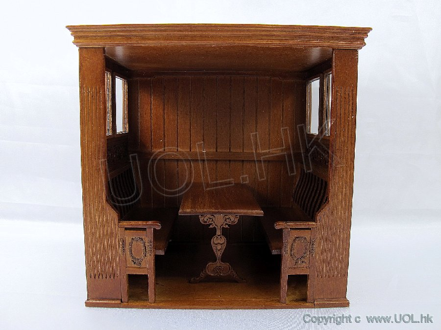 1:12 Scale Doll House Inglenook [Finished In Walnut]