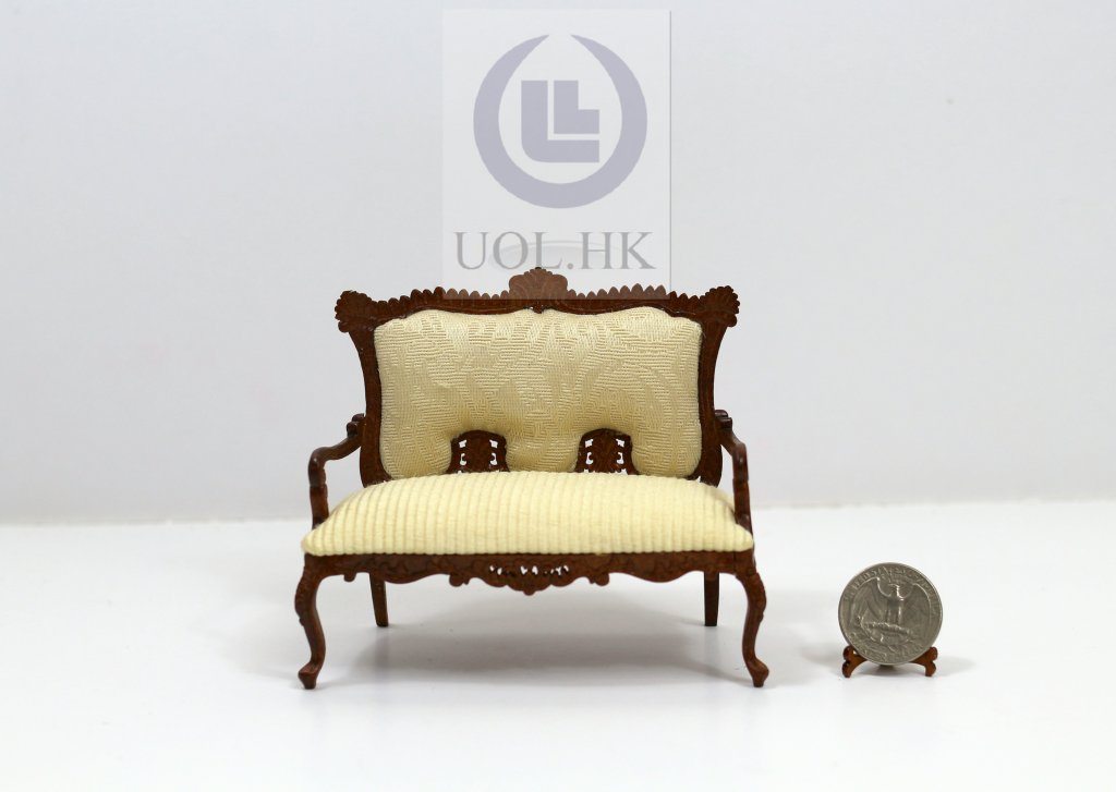 Miniature 1:12 Scale France Couch For doll House [Finished]