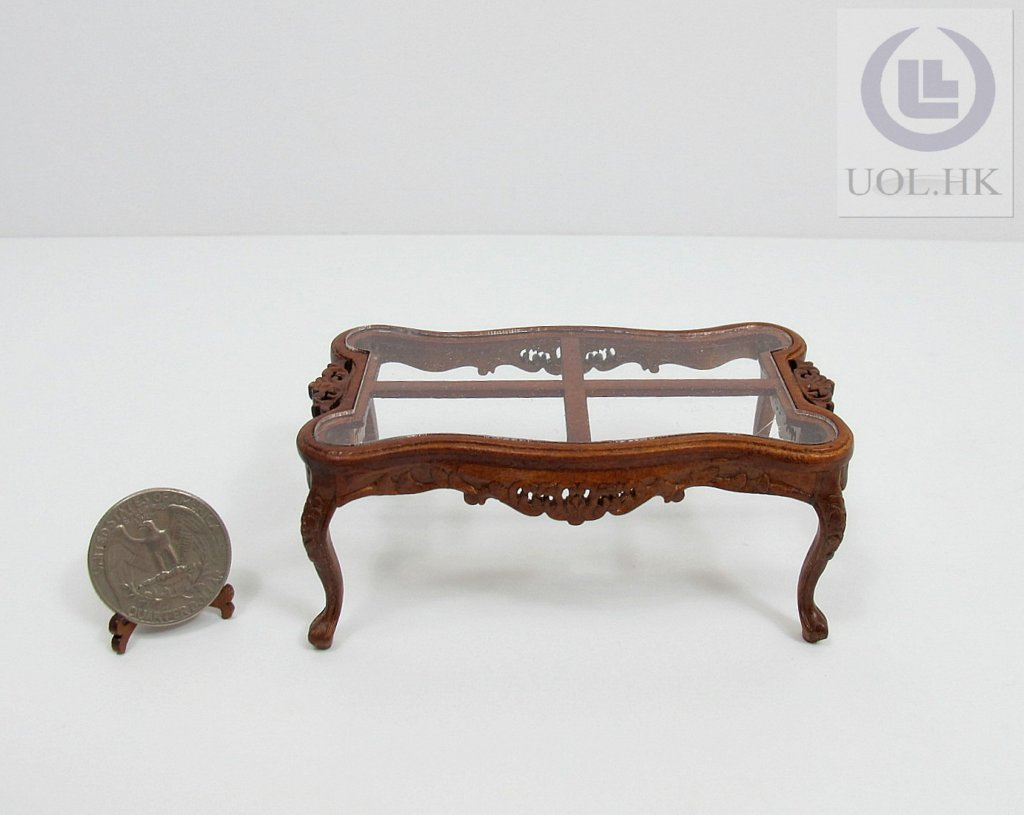 Miniature 1:12 Scale Cross Coffee Table For Doll House[WN]