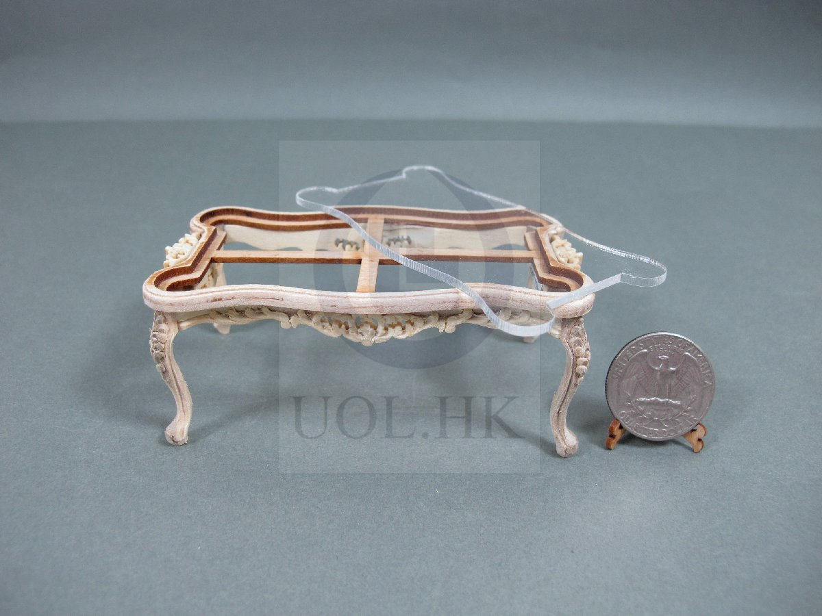Unfinished 1:12 Scale Miniature Cross Coffee Table For Dollhouse