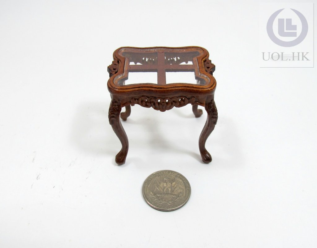 Miniature 1:12 Scale Cross End Table For Doll House[WN]
