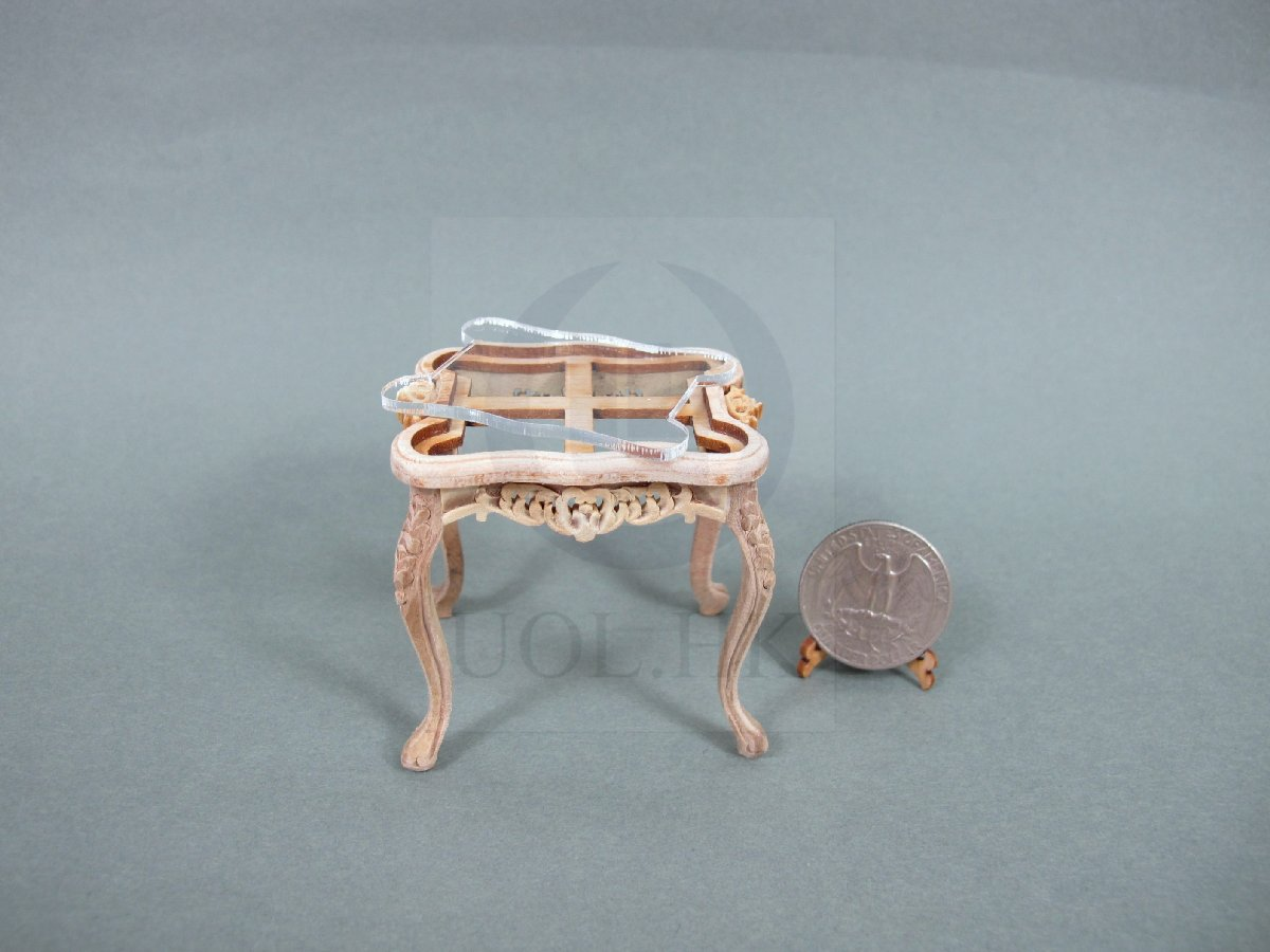 1:12 Scale Miniature Cross End Table For Doll House [Unfinished]