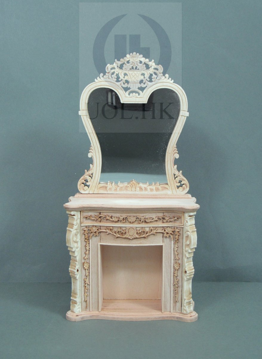 Miniature 1:12 Scale France Fireplace For Doll House[UF]