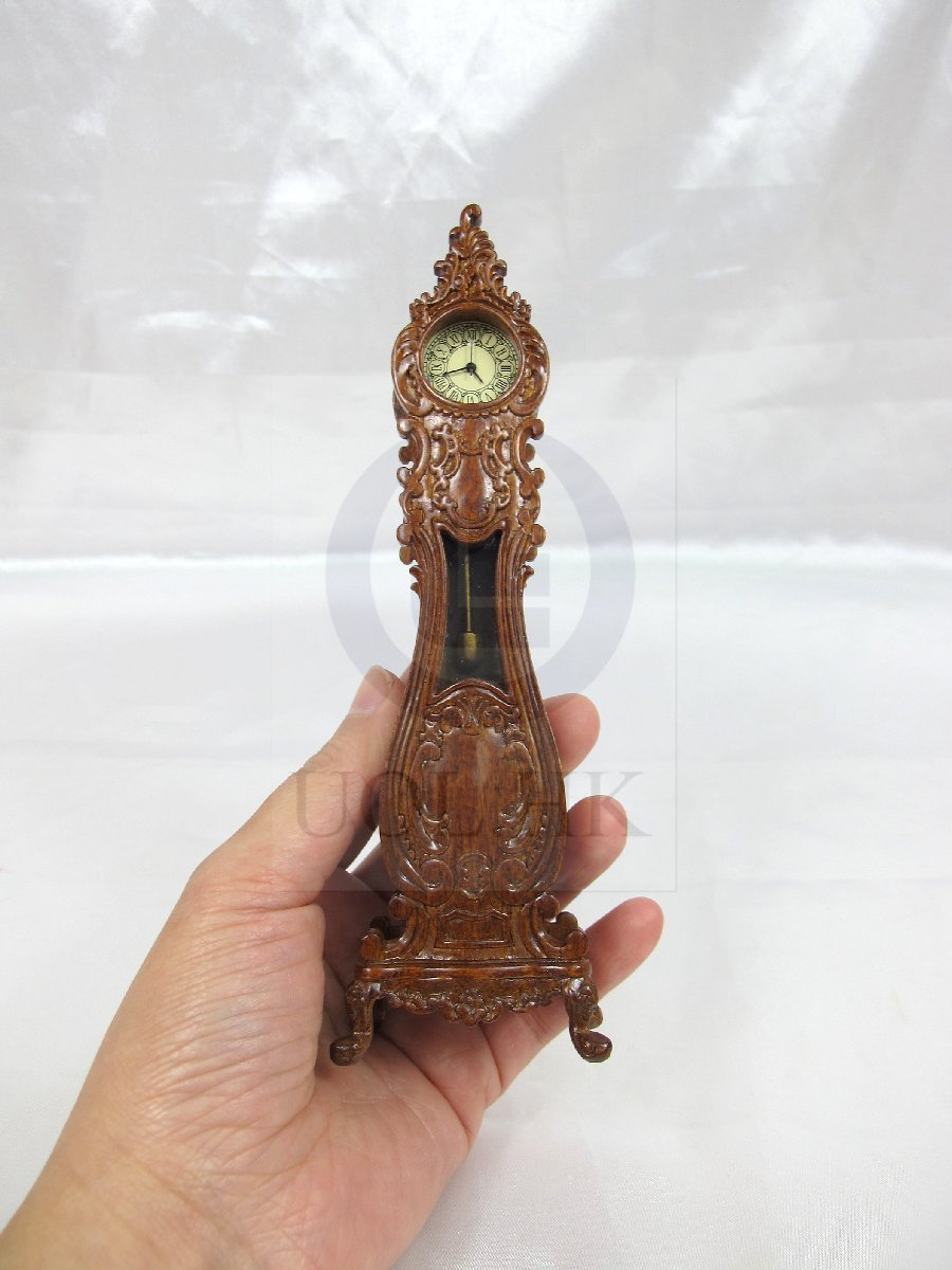 "Dollhouse 1""Scale Luxury Classical French Grandfather Clock-WN"