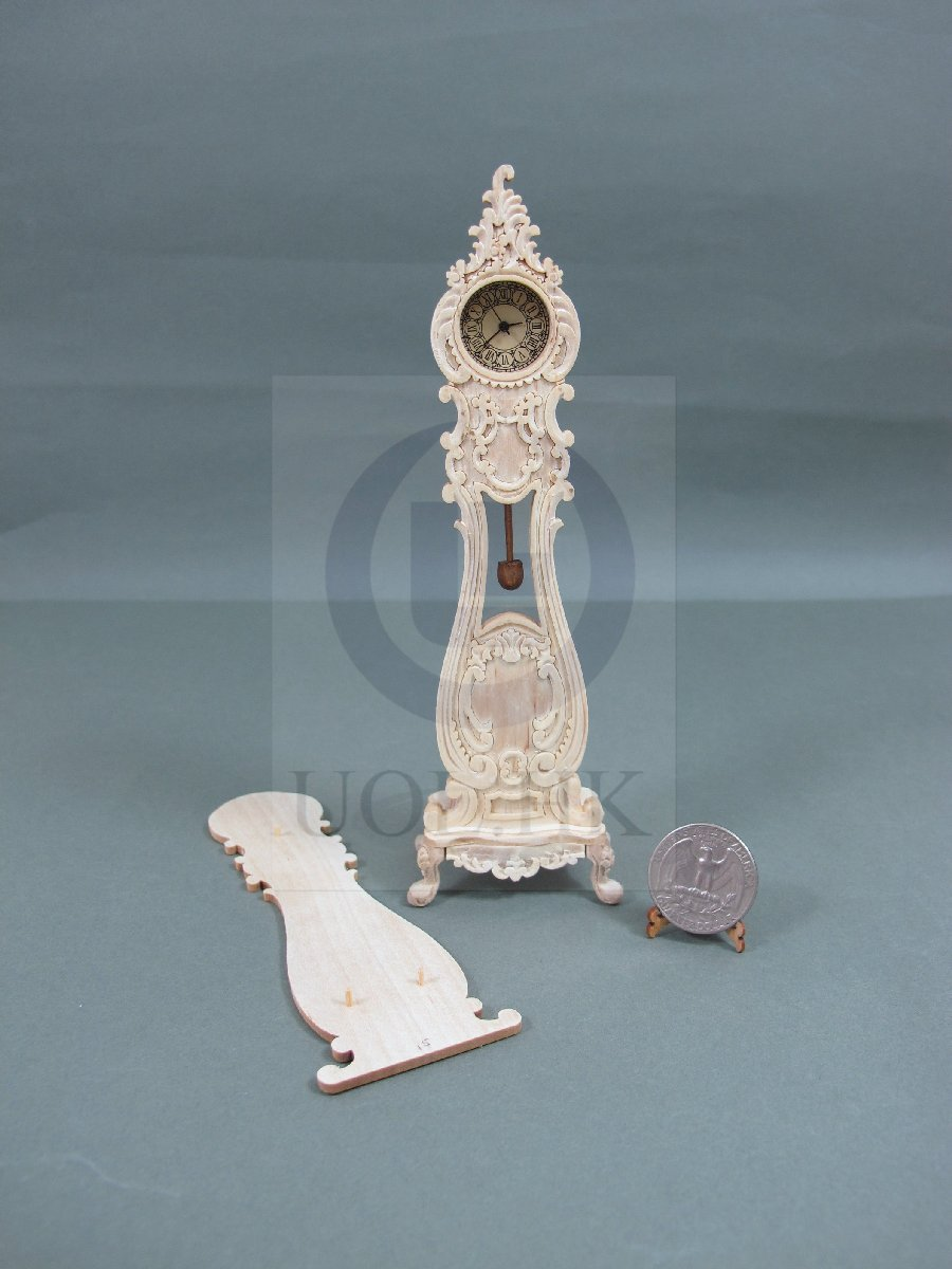 1:12 Scale Luxury Classical French Grandfather Clock[Unpainted]