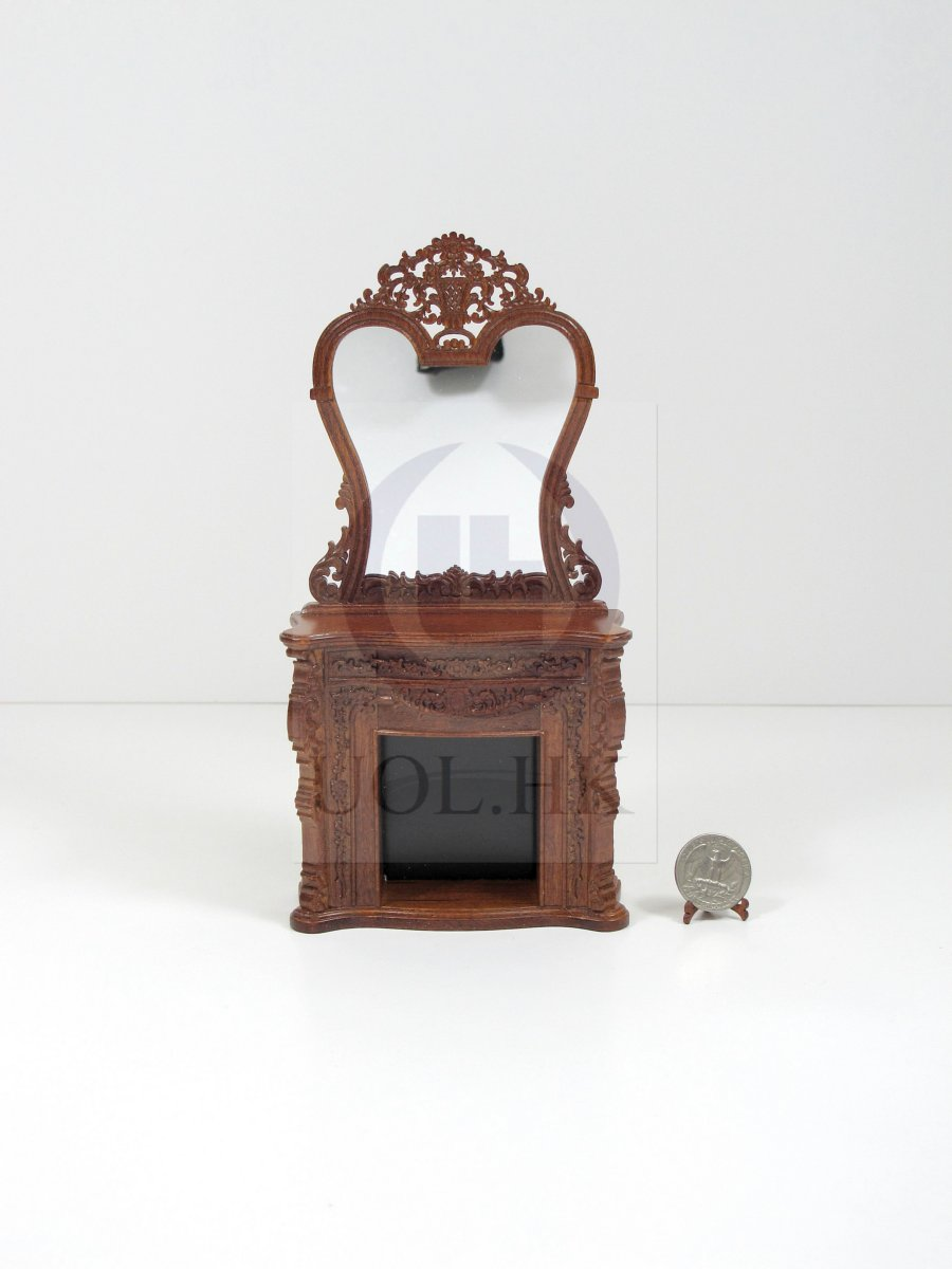 1:12 Scale Miniature France Fireplace For Doll House [WN]