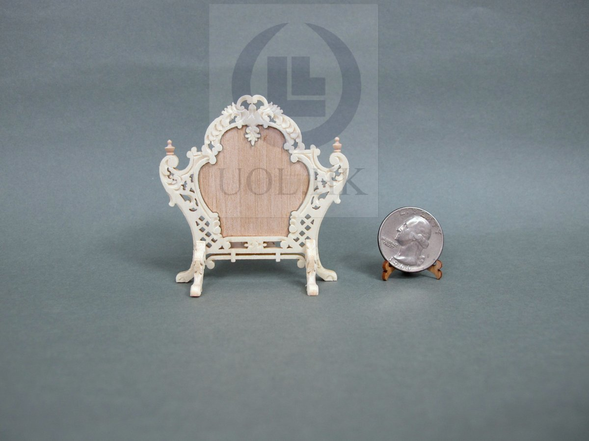1:12 Scale Louis XV Style Fire Screen For Doll House [UF]