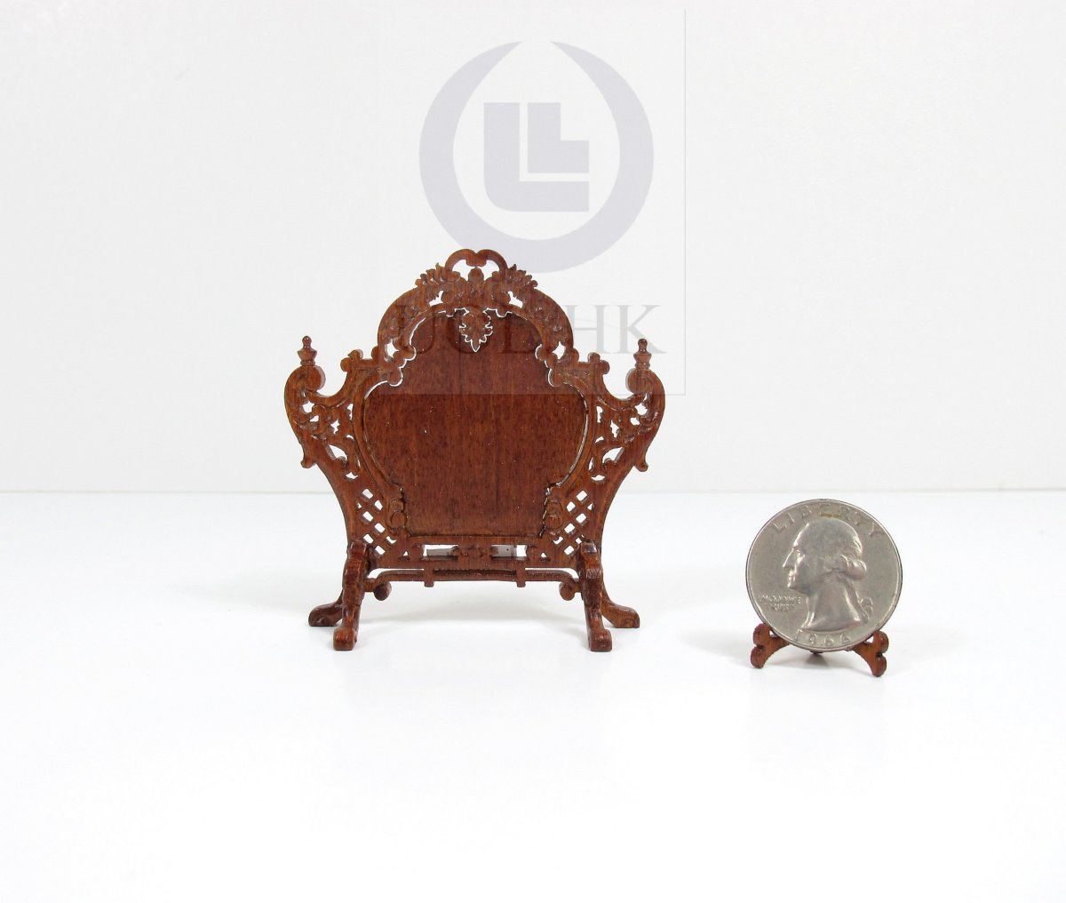 1:12 Scale Louis XV Style Fire Screen For Doll House [WN]