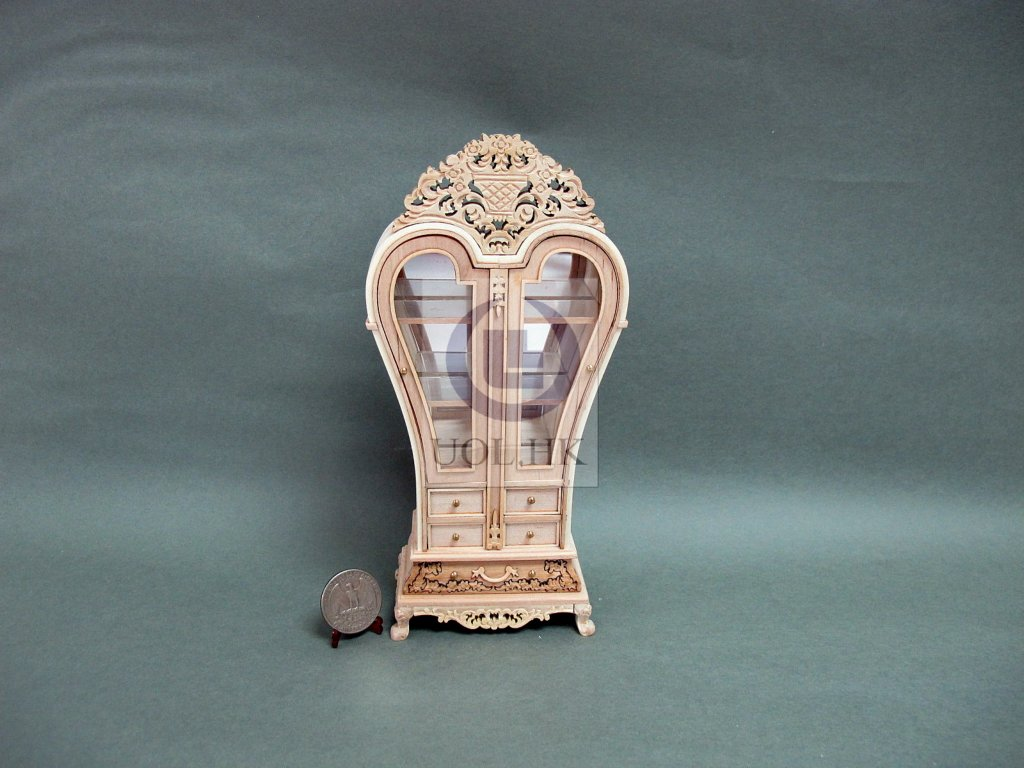 Miniature 1:12 Scale France Display Cabinet For Doll House