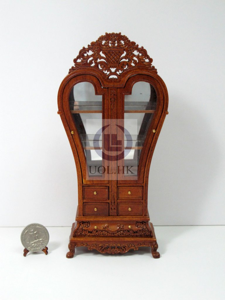 Miniature 1:12 Scale France Display Cabinet For Doll House[WN]
