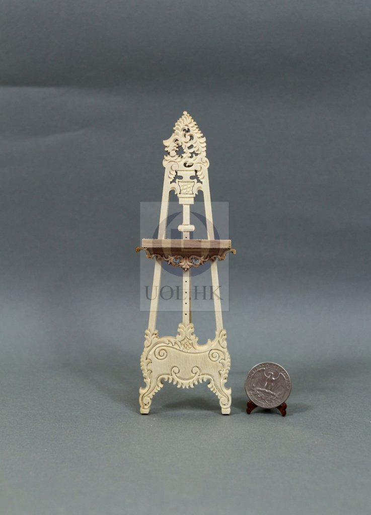 Miniature 1:12 Scale Doll House Wooden Display Easel[Unpainted]