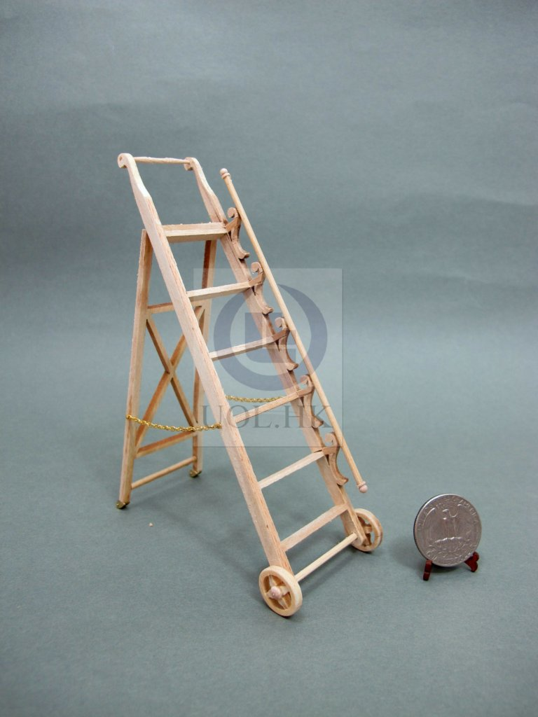 1:12 Scale Miniature Library ladder For Doll House[Unpainted]