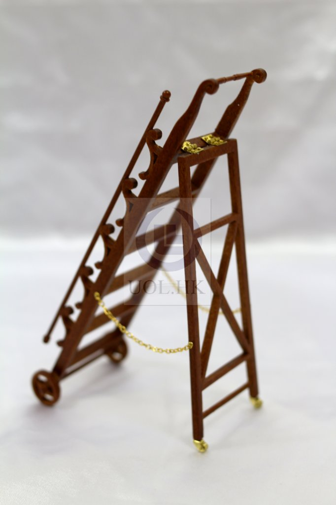 1:12 Scale Miniature Library ladder For Doll House