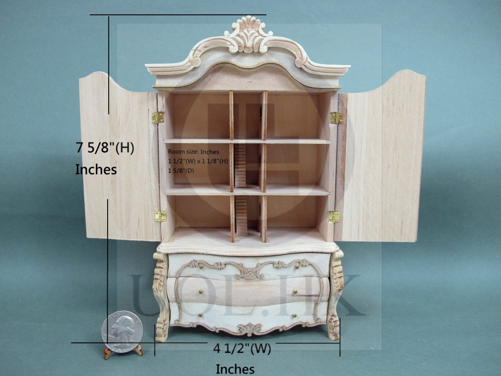 "Miniature 1:12 Scale The ""Escala"" Baby House [Unpainted]"