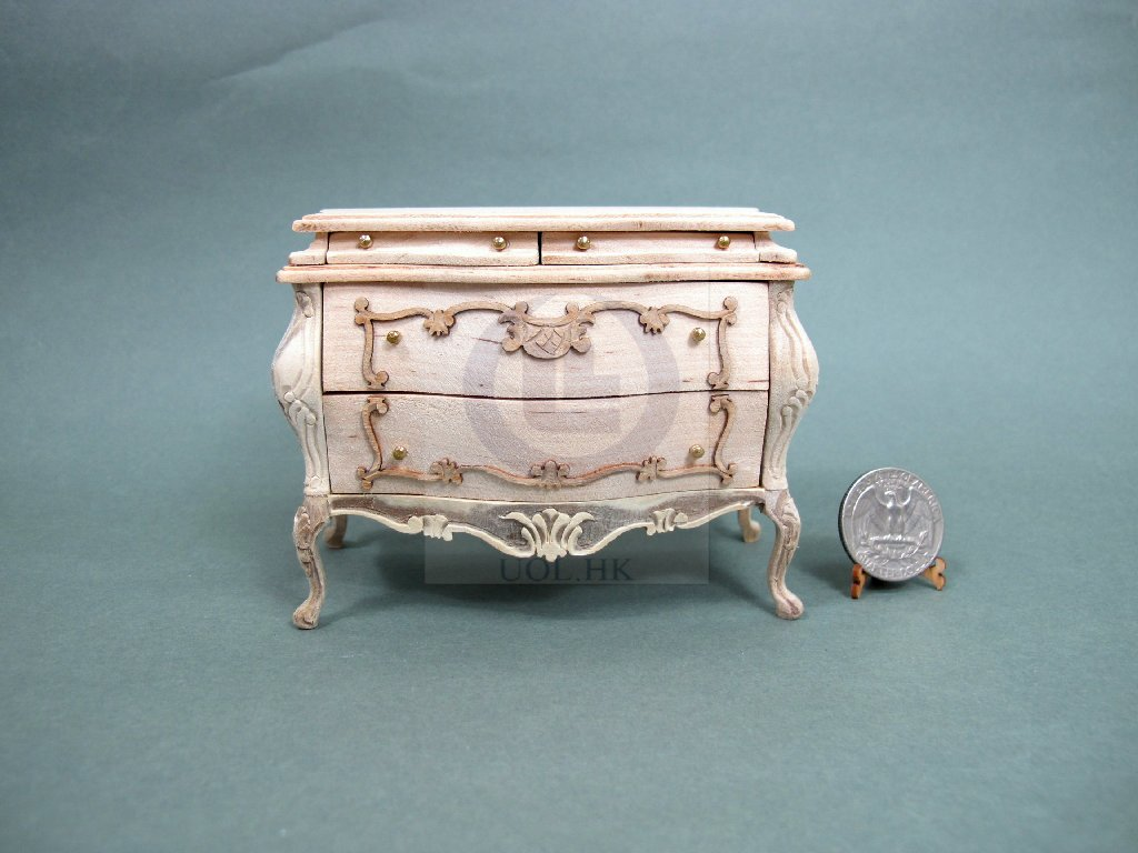 "Miniature 1:12 Scale The ""Escala"" Bombay Chest [Unpainted]"