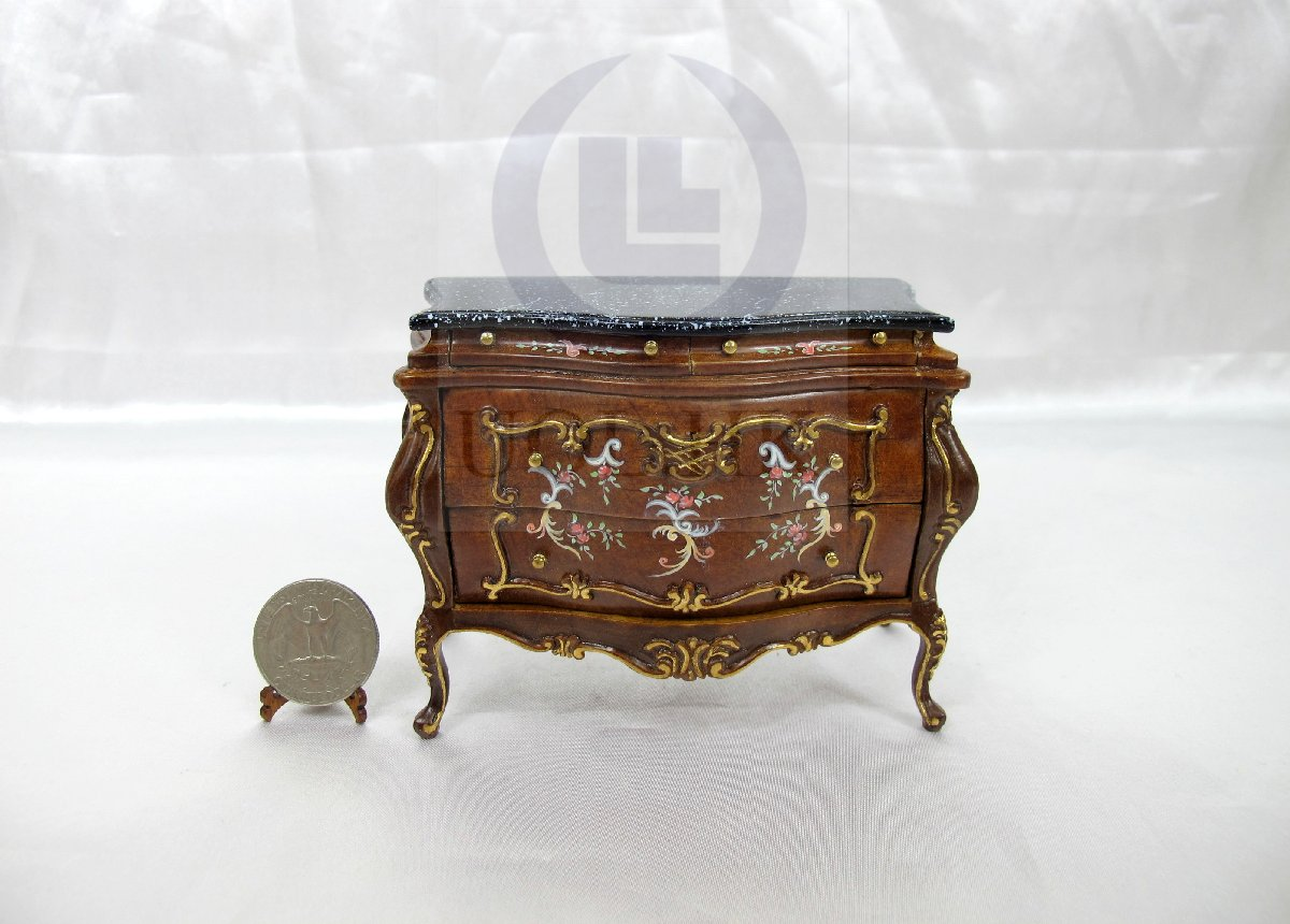 "Handpainted Miniature 1:12 Scale The ""Escala"" Bombay Chest"