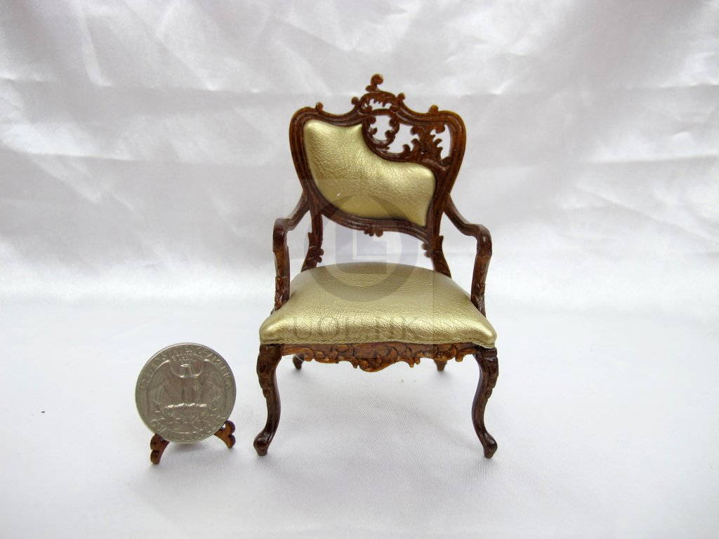 1:12 Scale Miniature Fancy Arm Chair For Doll House [Right]
