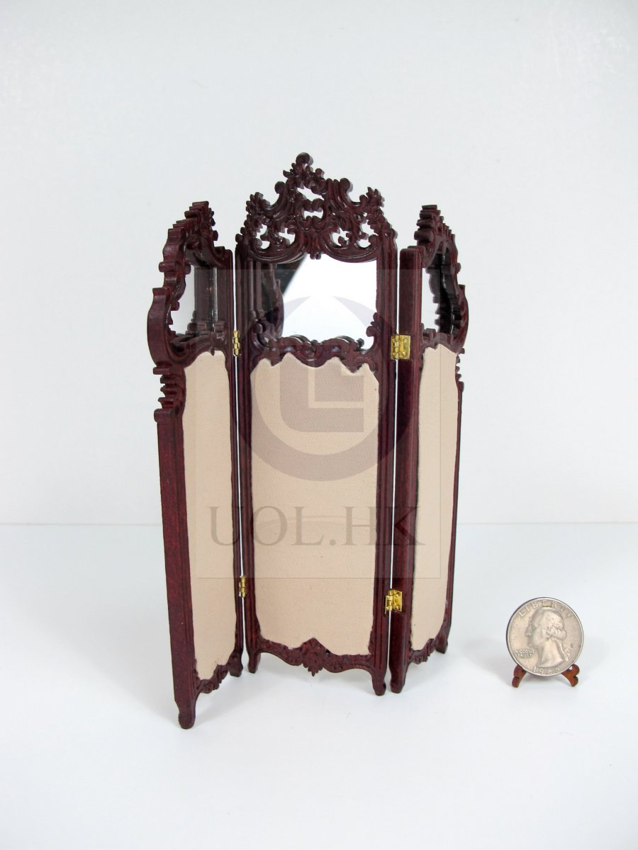 1:12 Scale Miniature Dressing Screen For Doll House[MH]