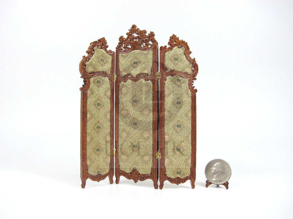 1:12 Scale Miniature Dressing Screen For Doll House
