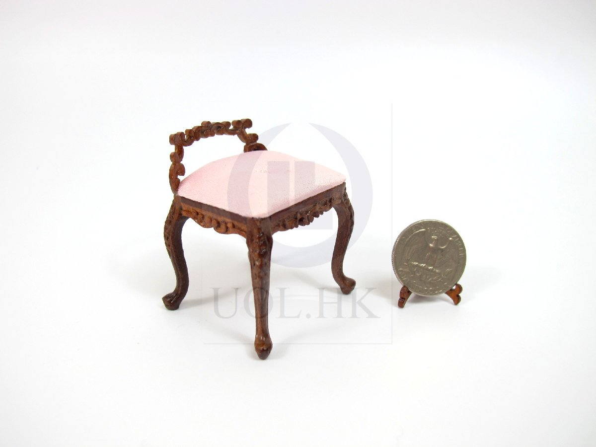 "1:12 Scale Miniature The ""Macy"" Dressing Chair For Doll House"