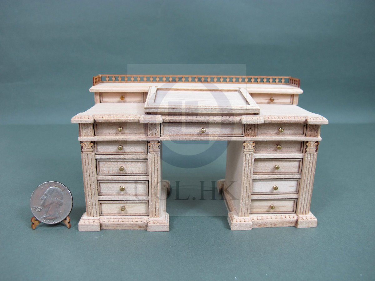 1:12 Scale Dickens Writing Desk For Doll House [Unfinished]