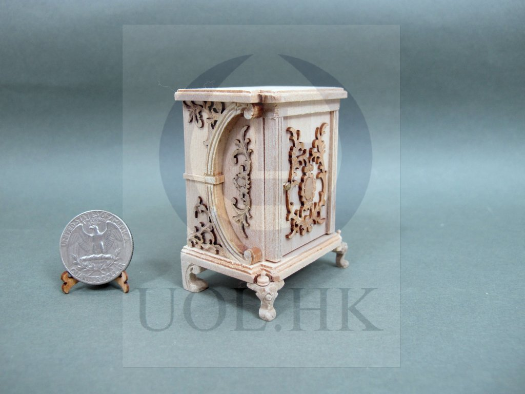 "Miniature 1:12 Scale The ""Vanessa"" Nightstand For Dollhouse [UF]"