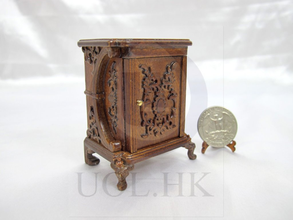 "Miniature 1:12 Scale The ""Vanessa"" Bedside Table For Dollhouse"