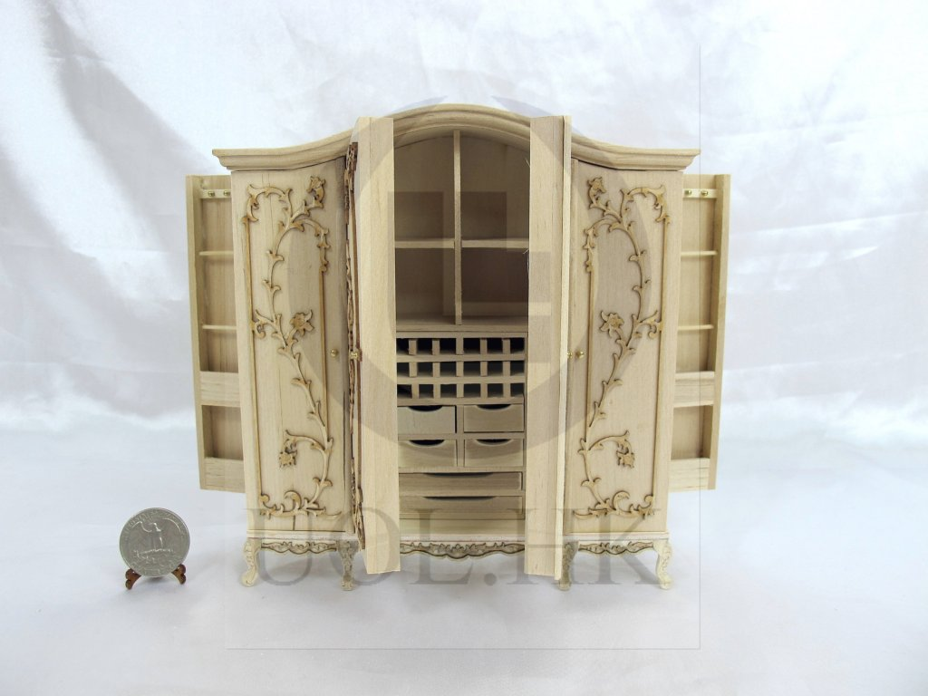 "1:12 Scale Miniature The ""Vanessa"" Wardrobe For Doll House"