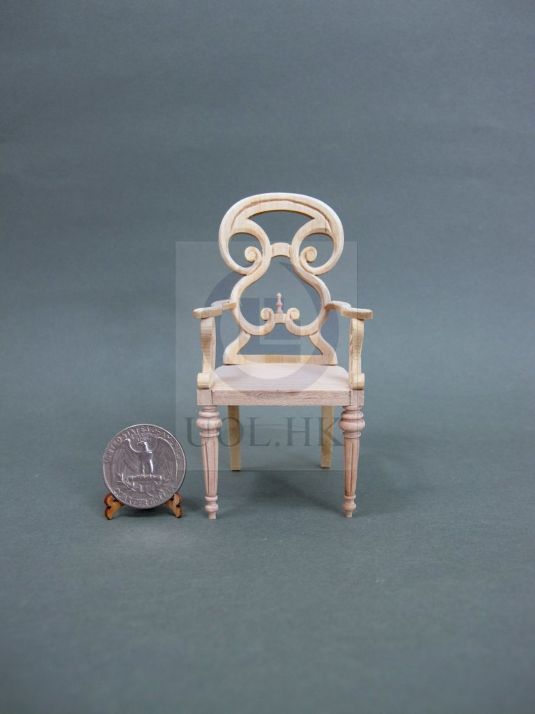1:12 Scale Butterfly Arm Chair For Doll House[Unpainted]