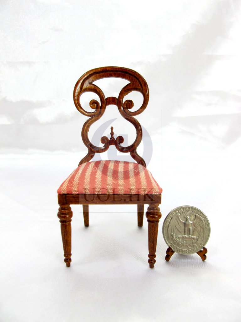 Miniature 1:12 Scale Butterfly Side Chair For Doll House[WN]