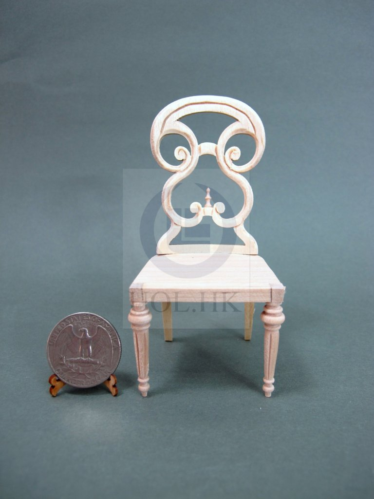 1:12 Scale Butterfly Side Chair For Doll House[Unpainted]