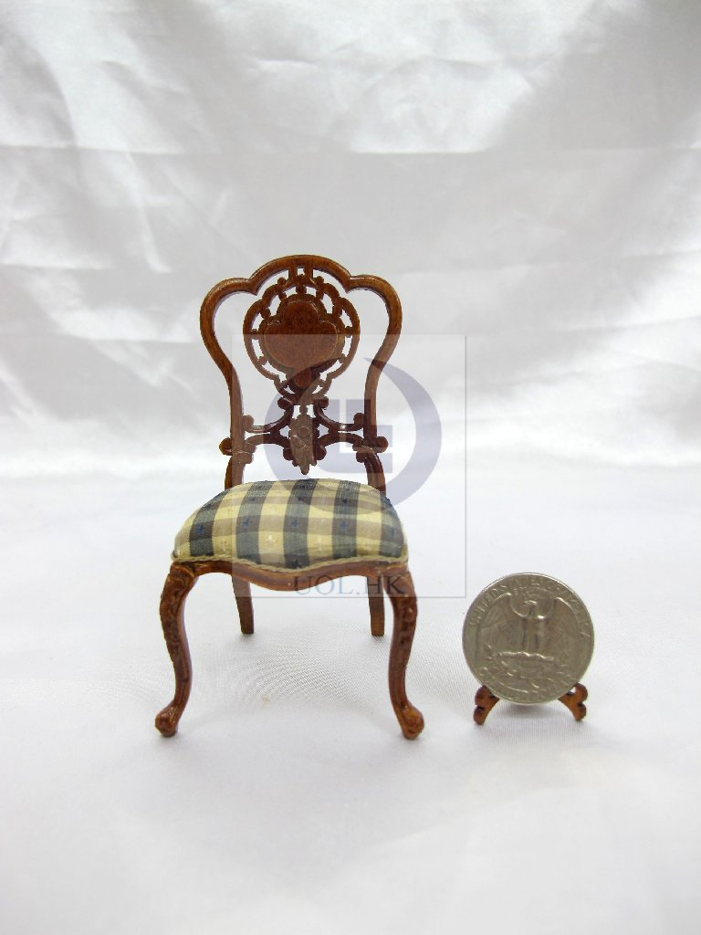 "1""Scale Extraordinary Side Chair For Doll House Dining Room"