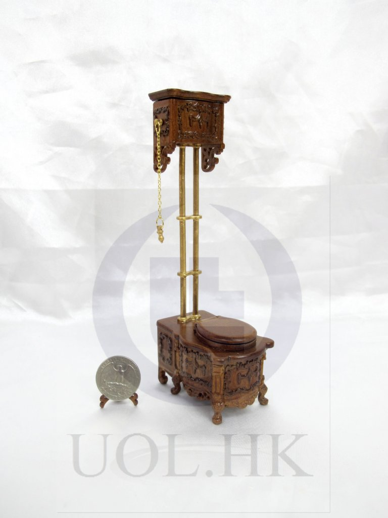 1:12 Scale Victorian High Water Tank Toilet [Finished in walnut]